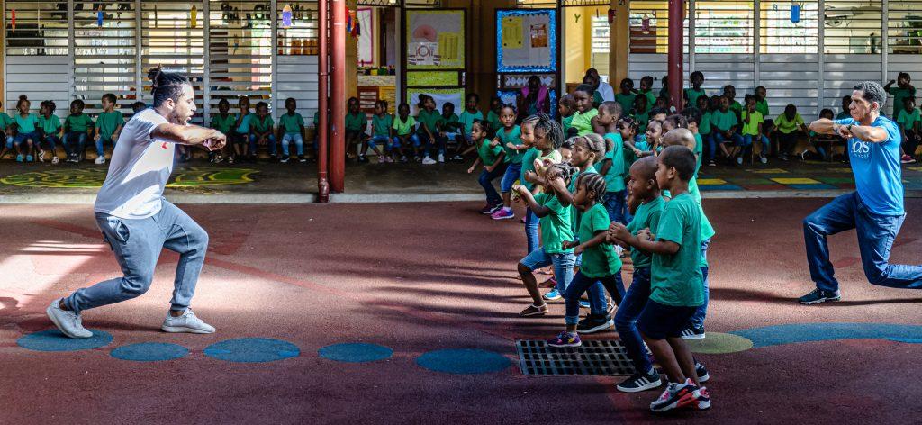 23 novembre 2020. Ecole Danglades, Cayenne. prestations dans le cade du Festival des Danses Métisses.