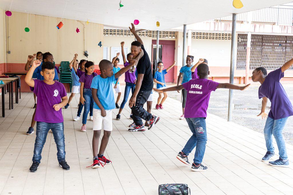 20 novembre 2020. Ecole ALEXANDRINE STANISLAS, Cayenne. prestations dans le cade du Festival des Danses Métisses.